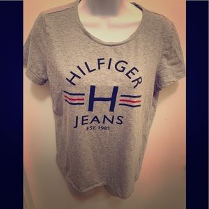 Tommy Hilfiger Top Size Medium Gray,Black and Red